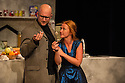 London, UK. 17.07.2014. Mountview Academy of Theatre Arts presents THE HOUSE OF BLUE LEAVES, by John Guare, directed by Jacqui Somerville, at the Unicorn Theatre, as part of the Postgraduate Season 2014. Picture shows: Rosalinde Case (Bananas Shaughnessy) and Jon Adams (Billy Einhorn). Photograph © Jane Hobson.