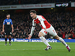 Arsenal's Gabriel celebrates scoring his sides opening goal<br /> <br /> Barclays Premier League- Arsenal vs AFC Bournemouth - Emirates Stadium - England - 28th December 2015 - Picture - David Klein/Sportimage