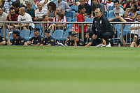 27.08.2012 SPAIN -  La Liga 12/13 Matchday 2th  match played between Atletico de Madrid vs Athletic Club de Bilbao (4-0) with hat-trick Radamel Falcao at Vicente Calderon stadium. The picture show Marcelo Alberto Bielsa Caldera coach of Athletic Club de Bilbao
