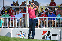 Hideki Matsuyama (JPN) watches his tee shot on 1 during 3rd round of the World Golf Championships - Bridgestone Invitational, at the Firestone Country Club, Akron, Ohio. 8/4/2018.<br /> Picture: Golffile | Ken Murray<br /> <br /> <br /> All photo usage must carry mandatory copyright credit (© Golffile | Ken Murray)