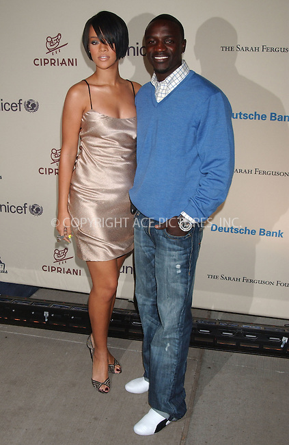 WWW.ACEPIXS.COM . . . . .....October 9, 2007. New York City.....Singers Rihanna and Akon arrive at the 2007 Cipriani Wall Street Concert Series featuring Rihanna and Akon at Cipriani Wall Street...  ....Please byline: Kristin Callahan - ACEPIXS.COM..... *** ***..Ace Pictures, Inc:  ..Philip Vaughan (646) 769 0430..e-mail: info@acepixs.com..web: http://www.acepixs.com