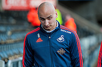 Jonjo Shelvey of Swansea arrives at the Liberty Stadium prior to the Barclays Premier League match between Swansea City and West Ham United played at the Liberty Stadium, Swansea  on December 20th 2015
