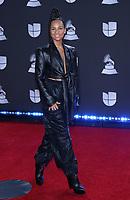 14 November 2019 - Las Vegas, NV - Alicia Keys. 2019 Latin Grammy Awards Red Carpet Arrivals at MGM Grand Garden Arena. Photo Credit: MJT/AdMedia