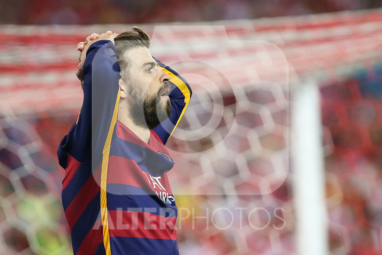 FC Barcelona's Gerard Pique during Spanish Kings Cup Final match. May 22,2016. (ALTERPHOTOS/Rodrigo Jimenez)
