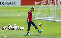 Goalkeeper Joe Hart (Manchester City ) of England during an open England football team training session at Stade Omnisport, Croissy sur Seine, France  on 12 June 2017 ahead of England's friendly International game against France on 13 June 2017. Photo by David Horn/PRiME Media Images.