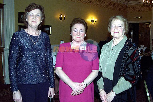 Maura Connery,Kathleen Woods and Franice Lee gargan at The Duleek Heritage Group Dinner in The Westcourt Hotel...Pic Newsfile