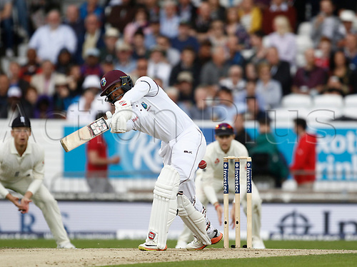 26th August 2017, Headingley, Leeds, England; International Test Match Series, Day 2; England versus West Indies; Shai Hope of the West Indies at the crease