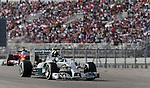 Formula 1 United States Grand Prix 2014, 31.10.-02.11.14<br /> Nico Rosberg(GER#6), Mercedes AMG Petronas F1 Team, Fernando Alonso (SPA#14), Scuderia Ferrari<br /> Foto &copy; nordphoto /  Bratic