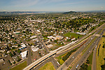Aerial View of the Lents Neighborhood in Portland, Oregon