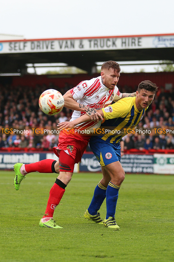 Jack King of Stevenage and Matty Pearson of Accrington Stanley during Stevenage vs Accrington Stanley, Sky Bet EFL League 2 Football at the Lamex Stadium on 6th May 2017