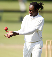 Kirk Drummond prepares to bowl for South Hampstead during the Middlesex County League Division three game between North London and South Hampstead at Park Road, Crouch End on Sat July 30, 2011