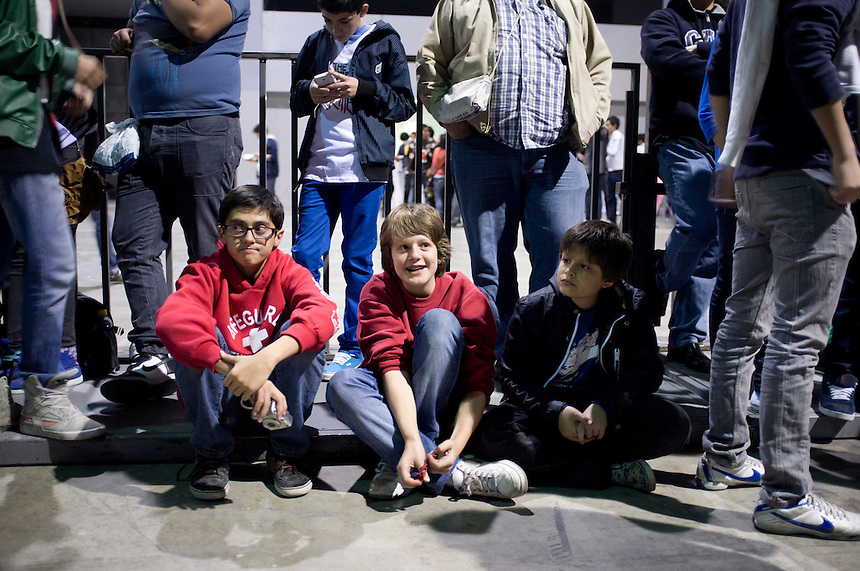 Lucas, Oliver and Danny at the Skrillex concert in the Expo Bancomer, Santa Fe, Mexico City