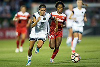 Boyds, MD. - Saturday, June 24 2017:  Emily Menges during a regular season National Women's Soccer League (NWSL) match between the Washington Spirit and the Portland Thorns FC at Maureen Hendricks Field, Maryland SoccerPlex. The Washington Spirit defeated Portland Thorns FC 1-0.
