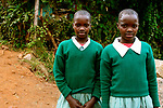 Twin sisters at Hamomi Children's Centre in Nairobi, Kenya