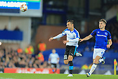 28th September 2017, Goodison Park, Liverpool, England; UEFA Europa League group stage, Everton versus Apollon Limassol; Jonjoe Kenny of Everton pressures Andre Schembri of Apollon Limassol