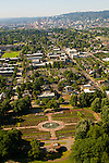 Aerial View of the Peninsula Park, Portland, Oregon