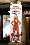 Theatre Marquee for J. Harrison Ghee In 'Kinky Boots' at the Al Hirschfeld Theatre on January 8, 2018 in New York City.