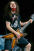 Pantera - guitarist Dimebag Darrell performing live on the main stage at the Monsters of Rock Festival held at Castle Donington UK - 02 Jun 1994 - Photo by: Gordon Milne/IconicPix