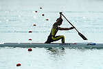 Kaiki Oshiro (JPN), <br /> AUGUST 30, 2018 - Canoe Sprint : <br /> Men's Canoe Single 1000m  Final<br /> at Jakabaring Sport Center Lake <br /> during the 2018 Jakarta Palembang Asian Games <br /> in Palembang, Indonesia. <br /> (Photo by Yohei Osada/AFLO SPORT)