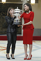 MADRID, SPAIN - JANUARY 10: Sandra Sanchez (L) recieves the National Sports Award 2017 from Queen Letizia of Spain (R) during the National Sports Awards 2017 at the El Pardo Palace on January 10, 2019 in Madrid, Spain.  ***NO SPAIN***<br /> CAP/MPI/RJO<br /> &copy;RJO/MPI/Capital Pictures