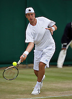 02-07-13, England, London,  AELTC, Wimbledon, Tennis, Wimbledon 2013, Day eight, Nicola Milojevic (SRB)<br /> <br /> <br /> <br /> Photo: Henk Koster