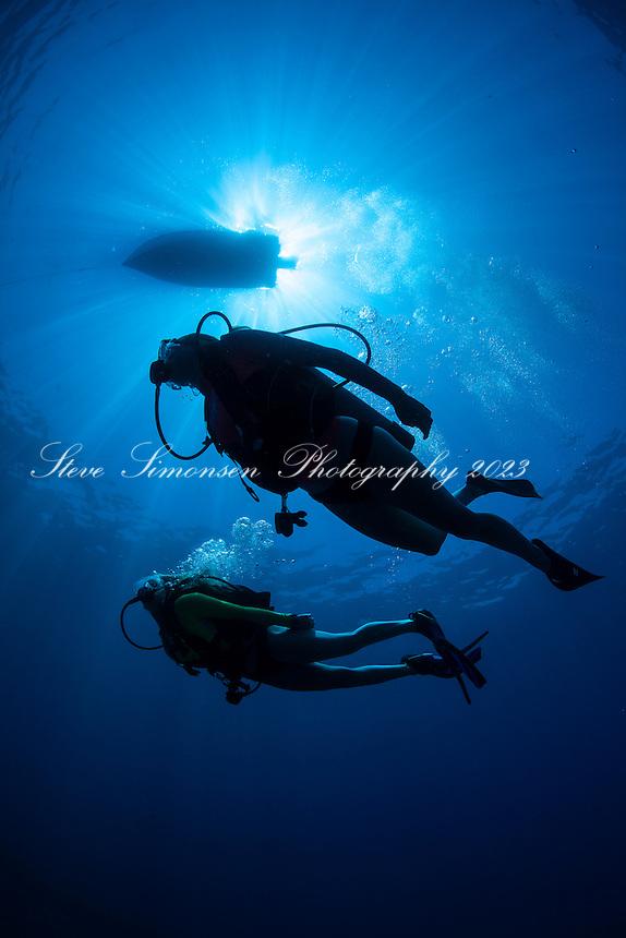 Diver Silhouette<br /> USVI