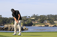 Steve Stricker (USA) birdie putt on the 7th green during Sunday's Final Round of the 2018 AT&amp;T Pebble Beach Pro-Am, held on Pebble Beach Golf Course, Monterey,  California, USA. 11th February 2018.<br /> Picture: Eoin Clarke | Golffile<br /> <br /> <br /> All photos usage must carry mandatory copyright credit (&copy; Golffile | Eoin Clarke)
