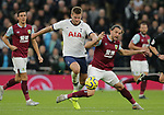 Burnley's Jay Rodriguez is challenged by Tottenham's Eric Dier during the Premier League match at the Tottenham Hotspur Stadium, London. Picture date: 7th December 2019. Picture credit should read: Paul Terry/Sportimage