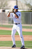 Casey Coleman. Chicago Cubs spring training workouts at Fitch Park complex, Mesa, AZ - 03/01/2010.Photo by:  Bill Mitchell/Four Seam Images.