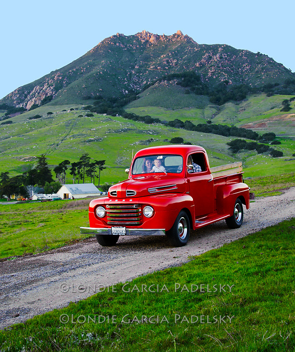 Family outing in the 1949 ford truck. San Luis Obispo, California