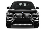 Car photography straight front view of a 2016 BMW X1 28i 5 Door Suv Front View