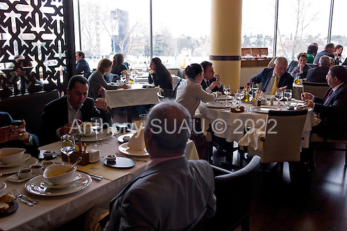 Istanbul, Turkey<br /> March 8, 2011<br /> <br /> Lunch at the Konyau restaurant in central Istanbul's Kanyon shopping mall.