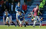 Ian Black falls over Jamie Walker