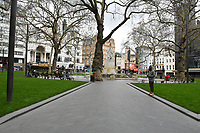 Very quiet Leicester Square, London, during Coronavirus outbreak in London, England on March 8, 2020.<br /> CAP/JOR<br /> ©JOR/Capital Pictures