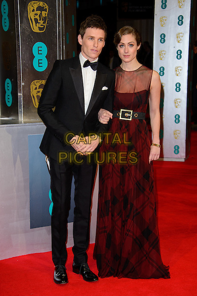 LONDON, ENGLAND - FEBRUARY 16: Eddie Redmayne and Hannah Bagshawe attends EE British Academy Film Awards in 2014  at the Royal Opera House on February 16, 2014 in London, England.<br /> CAP/CJ<br /> &copy;Chris Joseph/Capital Pictures
