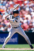 SAN FRANCISCO, CA - Craig Biggio of the Houston Astros in action during a game against the San Francisco Giants at Candlestick Park in San Francisco, California in 1995. Photo by Brad Mangin