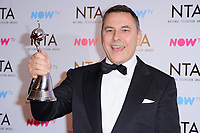 David Walliams at the National Television Awards 2018 at the O2 Arena, Greenwich, London, UK. <br /> 23 January  2018<br /> Picture: Steve Vas/Featureflash/SilverHub 0208 004 5359 sales@silverhubmedia.com