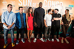 """Sport journalists of NBAPlus and basketball player Serge Ibaka attends to the presentations of the documentary """"Son of the Congo""""at Cinema Callao City Lights in Madrid, Spain. June 22, 2015.<br />  (ALTERPHOTOS/BorjaB.Hojas)"""