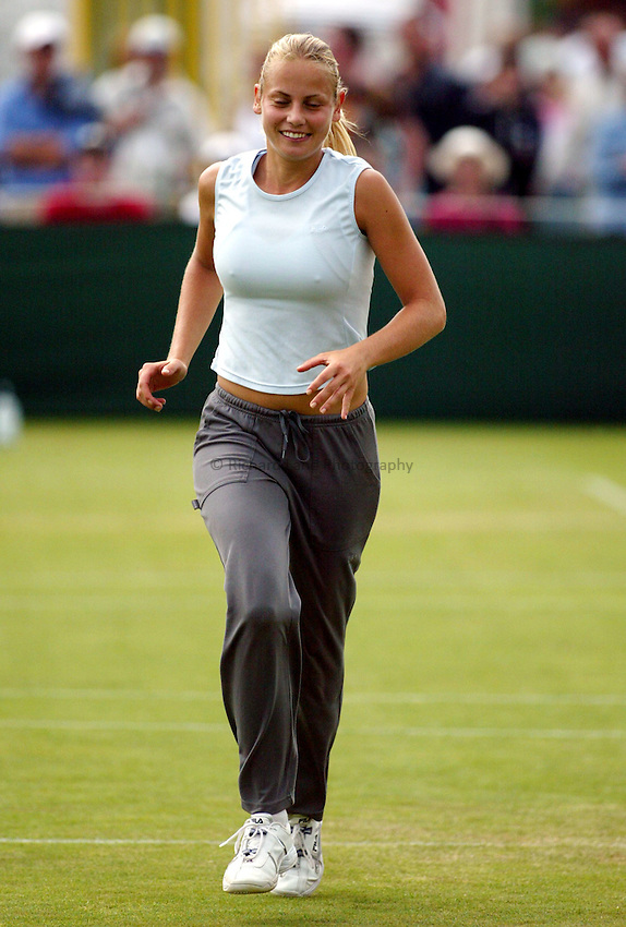 Photograph: Scott Heavey..Hastings Direct Womens Tennis.  Eastbourne. 17/06/2003..Jelena Dokic