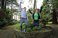 Pictured L-R: Students Jake Lomas and Holly Dickens.<br />