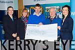 Staff at Bank of Ireland Tralee who raised €1,050 for Vincent de Paul, From left: Brigetta Culhane, Les Galvin, Junior Locke, SVdeP, Christy Lynch, SVdeP and Elaine O'Keeffe.