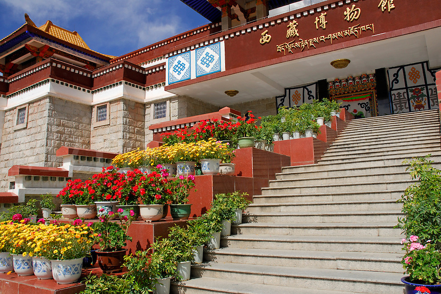 Located in the southeast corner of Norbulingka and completed in 2000 AD, the Tibet Museum records most of the history of a great civilization, Lhasa, Tibet, China.