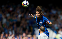 David Luiz of Chelsea in action during the Premier League match between Chelsea and Everton at Stamford Bridge, London, England on 27 August 2017. Photo by Andy Rowland.