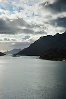 View of Raftsundet from Raftsund bridge, Vesteralen - Lofoten islands, Norway