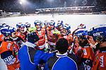 Bolln&auml;s 2014-01-17 Bandy  Bolln&auml;s GIF - Villa Lidk&ouml;ping BK :  <br />  Bolln&auml;s spelare och Bolln&auml;s tr&auml;nare Franco Bergman under en timeout<br /> (Foto: Kenta J&ouml;nsson) Nyckelord:  tr&auml;nare manager coach