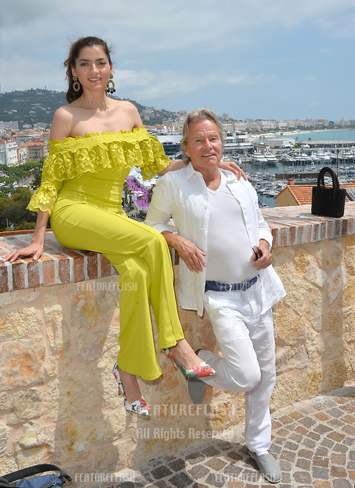 Actress Blanca Blanco with actor boyfriend John Savage in Cannes to promote her new movie &quot;Mission Possible&quot; at the 71st Festival de Cannes, Cannes, France 12 May 2018<br /> Picture: Paul Smith/Featureflash/SilverHub 0208 004 5359 sales@silverhubmedia.com