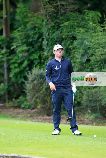 Cameron Raymond (Newlands) on the 7th tee during Round 1 of the Ulster U16 Boys Open at Dungannon Golf Club on Wednesday 12th August 2015.<br /> Picture:  Thos Caffrey / www.golffile.ie