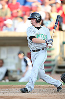 May 29, 2010: Hawkins Gebbers (1) of the Clinton LumberKings at Elfstrom Stadium in Geneva, IL. The LumberKings are the Midwest League Class A affiliate of the Seattle Mariners. Photo by: Chris Proctor/Four Seam Images