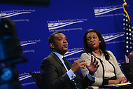 "Washington, DC - February 27, 2017: District of Columbia Attorney General Karl Racine speaks during the ""States Defending Progress forum at the Center for American Progress February 27, 2017.  (Photo by Don Baxter/Media Images International)"