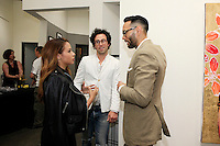 SANTA MONICA - JUN 25: Guests, Simon Phan at the David Bromley LA Women Art Exhibition opening reception at the Andrew Weiss Gallery on June 25, 2016 in Santa Monica, California